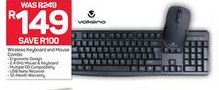 Volkano Wireless Keyboard and Mouse Combo offer at R 149