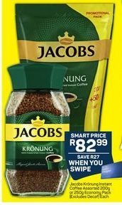Jacobs Kronung Instant Coffee or Economy Pack offer at R 82,99