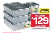 Addis 10-Piece Foodsavers Set offer at R 129