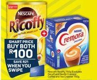 Nescafe Ricoffy and Nestle Creamora Coffee and Tea Creamer offer at R 100
