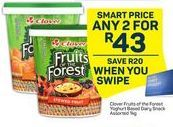 Clover Fruits in the Forest Yoghurt Based dairy Snack 2 offer at R 43