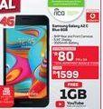 Samsung Galaxy A2 C Blue 8GB offer at R 1599