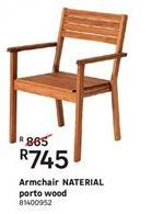Armchair NATERIAL porto wood offer at R 745