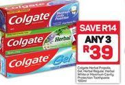 Colgate Toothpaste 3 offer at R 39