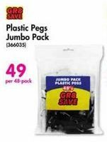 Plastic Pegs Jumbo Pack offer at R 49