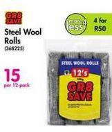 Steel Wool Rolls offer at R 15