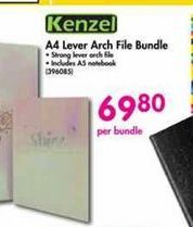 Kenzel A4 Lever Arch File Bundle offer at R 69,8