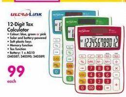 UltraLink 12-Digit Tax Calculator offer at R 99