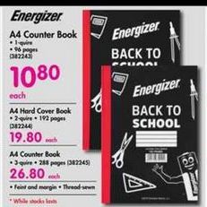 Energizer A4 Counter Book offer at R 10,8