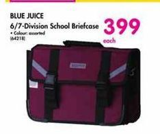 Blue Juice 6/7-Division School Briefcase offer at R 399
