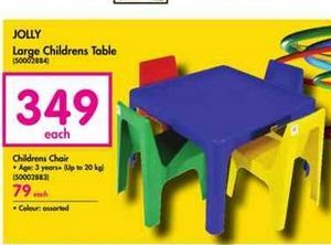 Jolly Large Childrens Table offer at R 349
