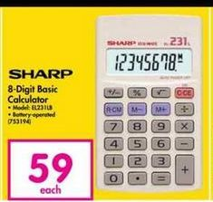 Sharp 8-Digit Basic Calculator offer at R 59