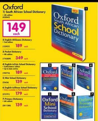 Oxford South African School Dictionary offer at R 149