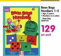 Bean Bags Numbers 1-5 offer at R 129