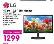 LG 19.5'' LED Monitor offer at R 1299