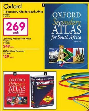 Oxford Secondary Atlas for South Africa offer at R 269