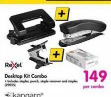 Rexel Desktop Kit Combo offer at R 149