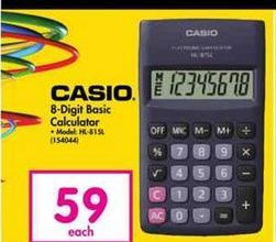 Casio 8-Digit Basic Calculator offer at R 59