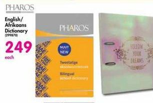 Pharos English / Afrikaans Dictionary offer at R 249
