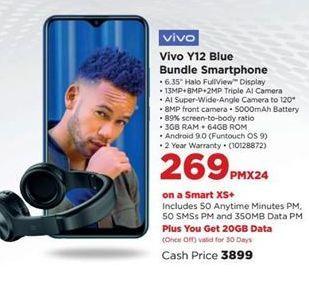 Vivo Y12 Blue Bundle Smartphone offer at R 269
