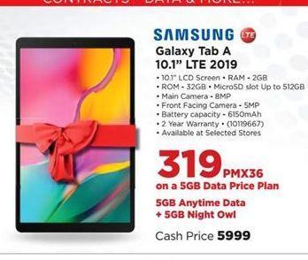 Samsung Galaxy Tab A 10.1 LTE 2019 offer at R 319