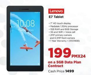 Lenovo E7 Tablet offer at R 199