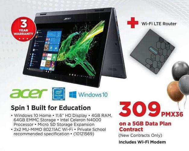 Acer Spin 1 Built for Education offer at R 309