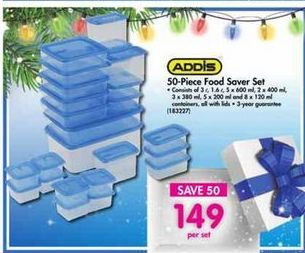 Addis 50-Piece Food Saver Set offer at R 149
