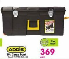 Addis 89 l Cargo Trunk offer at R 369