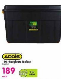Addis 110 l Roughtote Toolbox offer at R 189