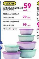 Addis 730ml Airtight Bowl offer at R 59