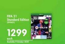 Fifa 21 Standard Edition offer at R 1299