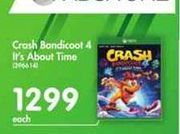 Crash Bandicoot 4 It's About Time offer at R 1299