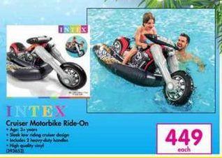 Intex Cruiser Motorbike Ride-On offer at R 449