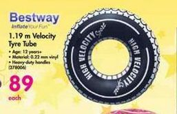 Bestway 1.19m Velocity Tyre Tube offer at R 89