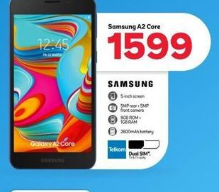 Samsung A2 Core Smartphone offer at R 1599