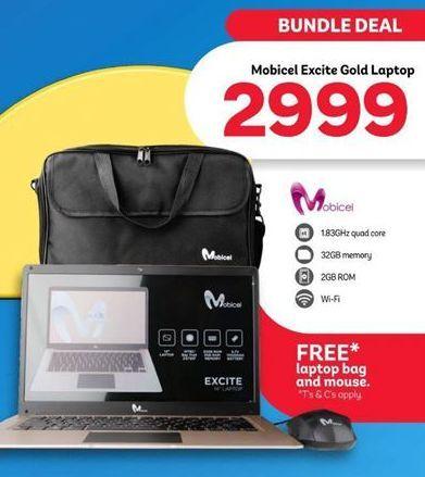 Mobicel Excite Gold Laptop  offer at R 2999