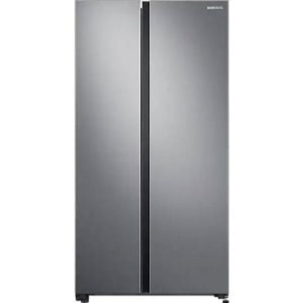 Samsung 647L Silver Side by Side Fridge - RS62R5011M9/FA offer at R 19999,99