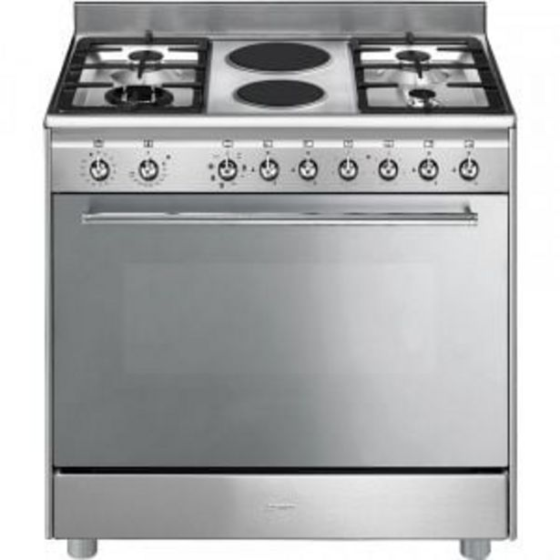 Smeg 90cm Stainless Steel Gas Electric Stove - SSA92MAX9 + Free Whistling Kettle (5083NC) offer at R 14999,99