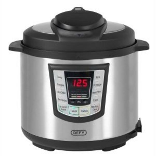 Defy 6L Silver Pressure Cooker - PC600S offers at R 1299,99