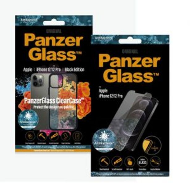 PanzerGlass iPhone 12/12 PRO Anti-Bacterial Protection Bundle offers at R 579,99