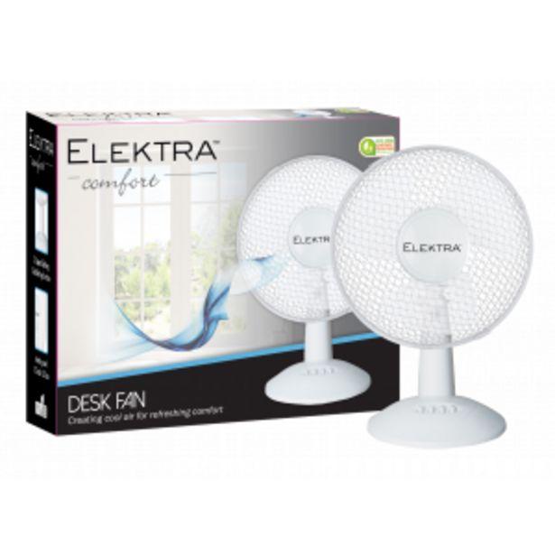 """Elektra 12"""" Desk Fan - 2701 offers at R 299,99"""