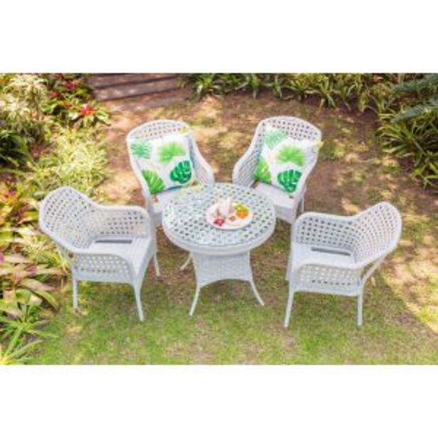Jost White Garden Table & 4 Chairs - 8120# offers at R 7899,99