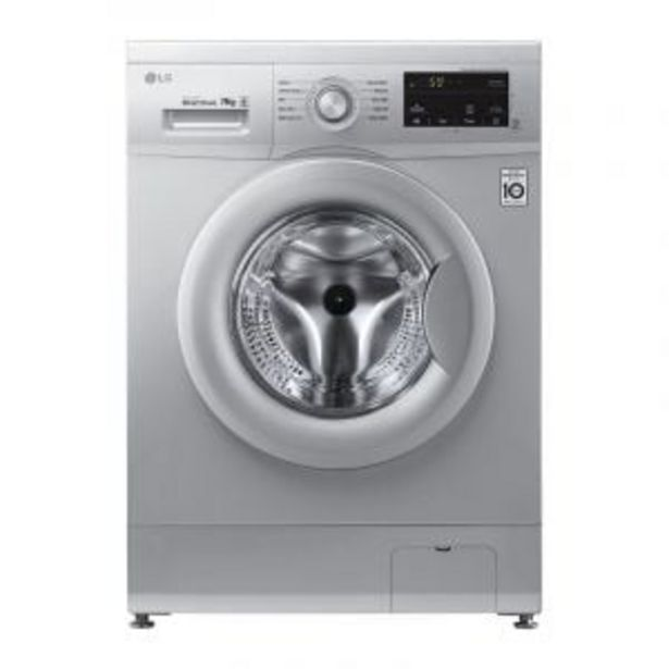 LG 7kg Luxury Silver Front Loader Washing Machine - FH0J3HDNP5P offer at R 6544,99