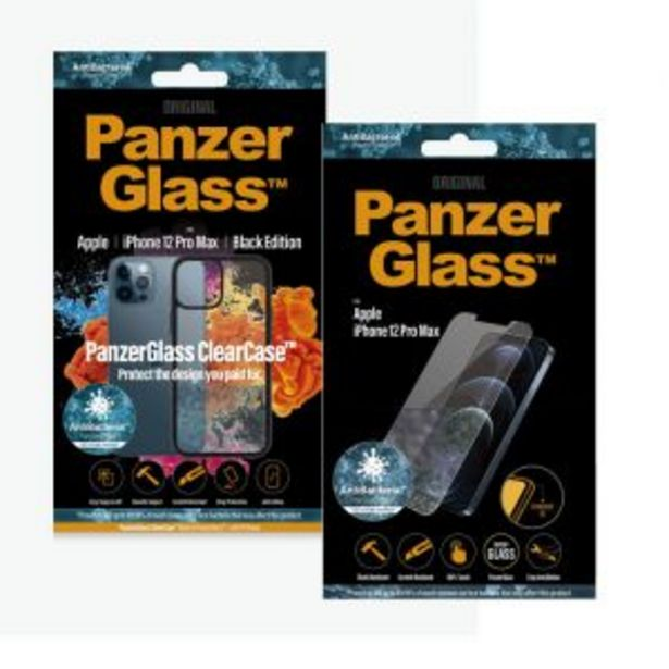 PanzerGlass iPhone 12 Pro Max Anti-Bacterial Protection Bundle offers at R 579,99