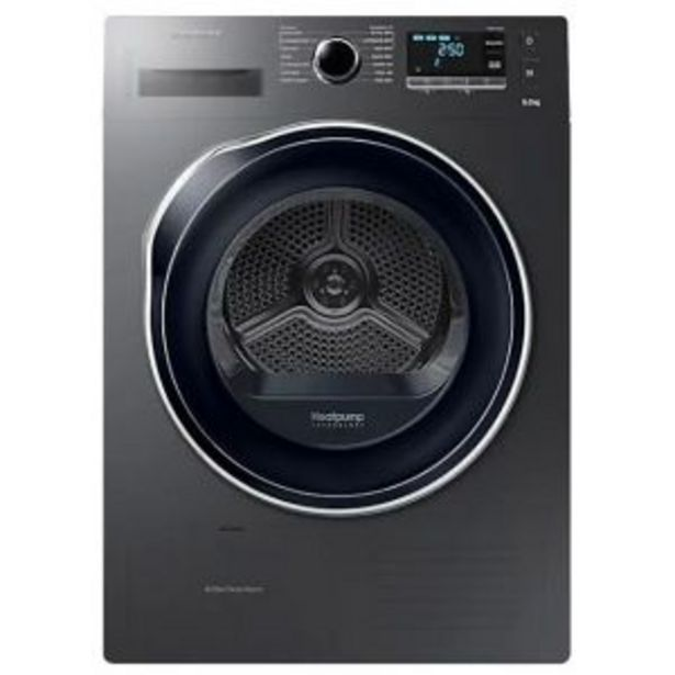 Samsung 9kg Silver Tumble Dryer - DV90K6000CX/FA offer at R 13199,99