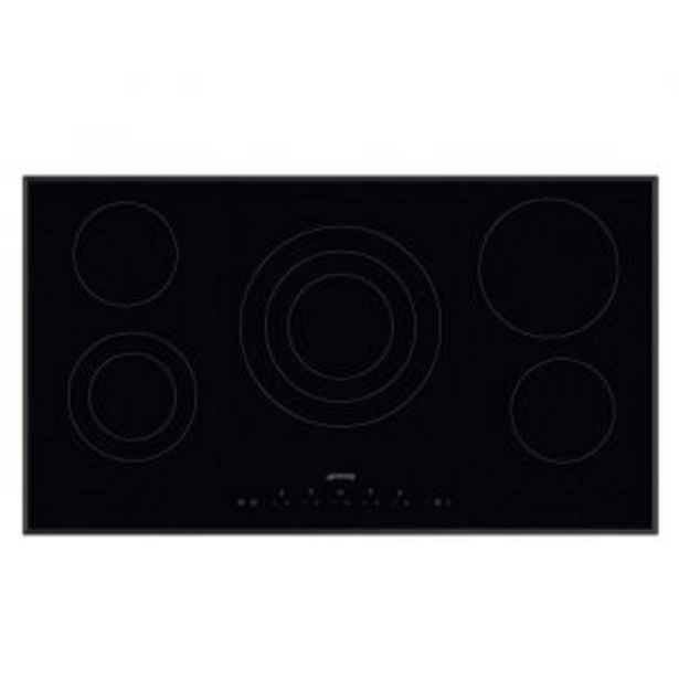 Smeg 90cm Ceramic Black Glass Hob - SE395ETB offer at R 11899,99