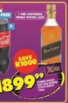 Johnnie Walker Black Label Blended Scotch Whiskey offer at R 1899,99