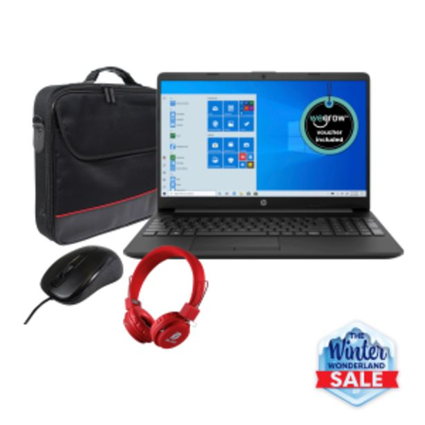 HP 15 i3 Bundle offers at R 549