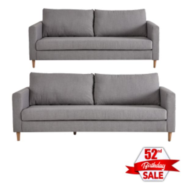 Sami Fully Upholstered Aswan Cement 2 and 3 Seater ... offers at R 919
